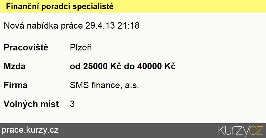 Finanční poradci specialisté, Finanční poradci specialisté