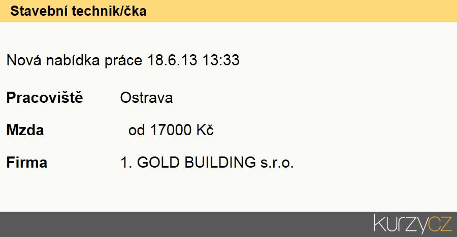 Stavební technik/čka, Stavební technici