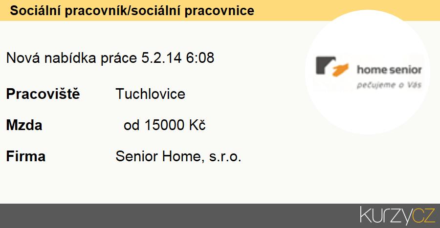 Sociální pracovník/sociální pracovnice, Sociální pracovníci specialisté v oblasti péče o seniory (kromě péče o zdravotně postižené)