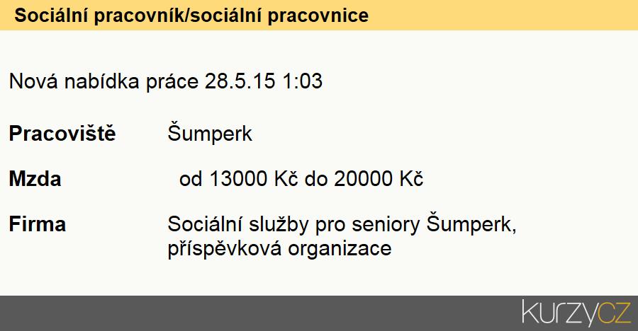 Sociální pracovník/sociální pracovnice, Sociální pracovníci v oblasti péče o seniory (kromě péče o zdravotně postižené)