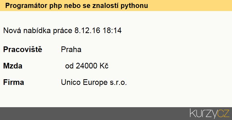 Programátor php nebo se znalostí pythonu, Programátoři počítačových aplikací specialisté