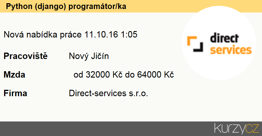 Python (django) programátor/ka, Technici uživatelské podpory informačních a komunikačních technologií