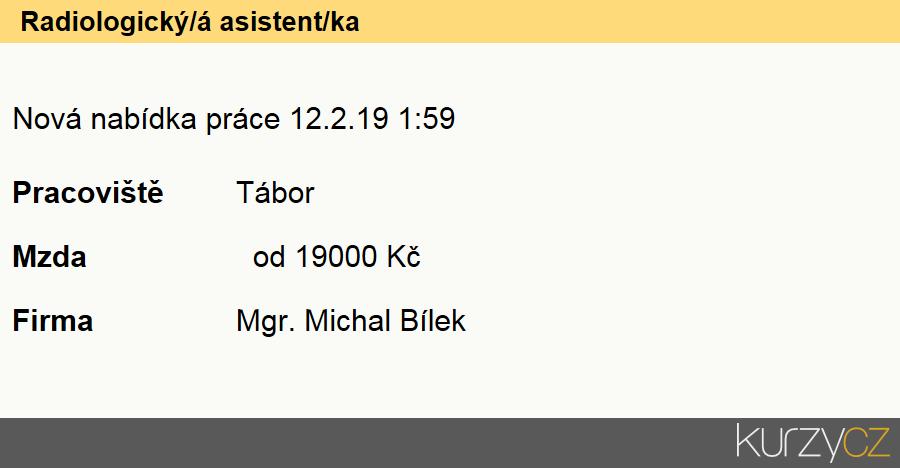 Radiologický/á asistent/ka, Radiologičtí asistenti