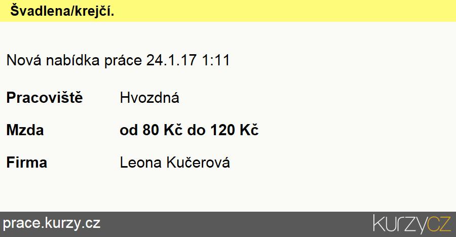 Švadlena/krejčí., Švadleny, šičky, vyšívači a pracovníci v příbuzných oborech