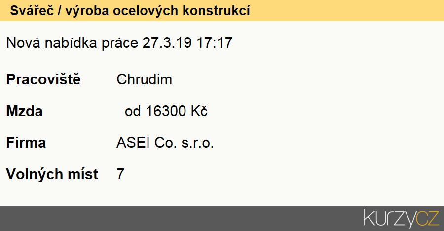 Svářeč / výroba ocelových konstrukcí, Svářeči