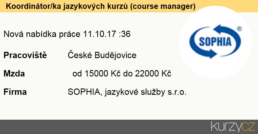 Koordinátor/ka jazykových kurzů (course manager), Odborní asistenti v administrativě