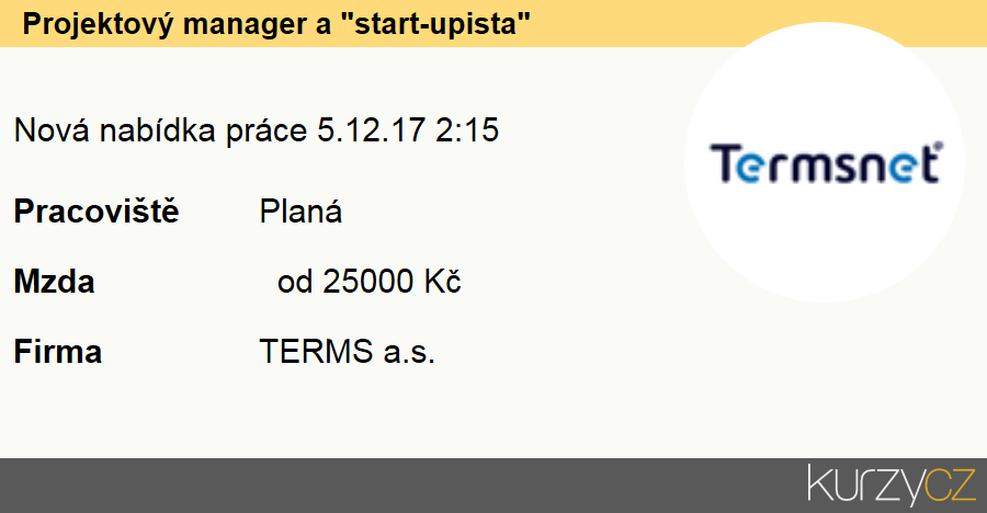 "Projektový manager a ""start-upista"", Specialisté v oblasti marketingu"