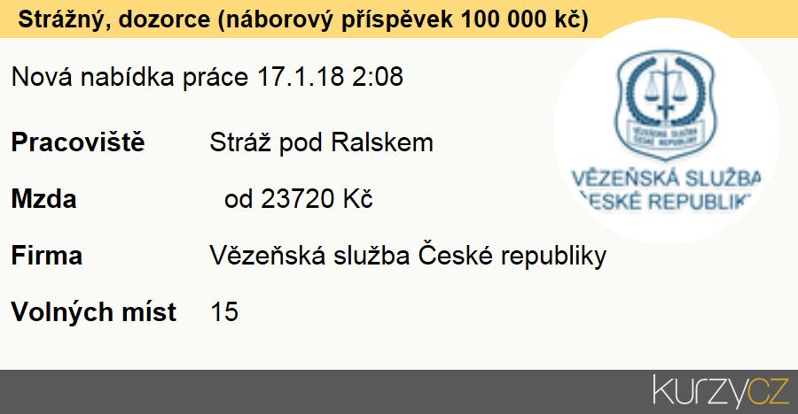 Strážný, dozorce (náborový příspěvek 100 000 kč), Referenti a vrchní referenti Vězeňské služby ČR