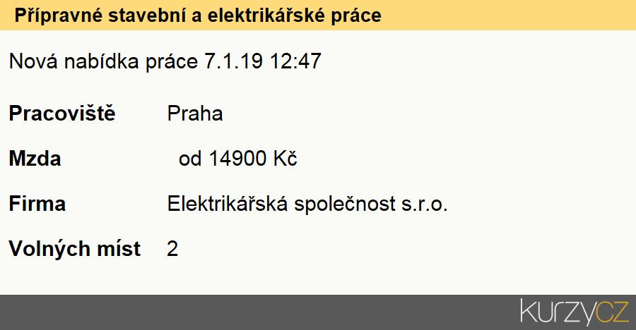 Příbuzné stránky. Přípravné Stavební A Elektrikářské Práce ... eb6d141ab9