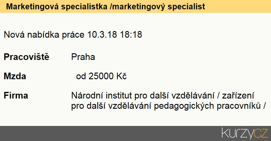 Marketingová specialistka /marketingový specialista, Řídící pracovníci v oblasti marketingu