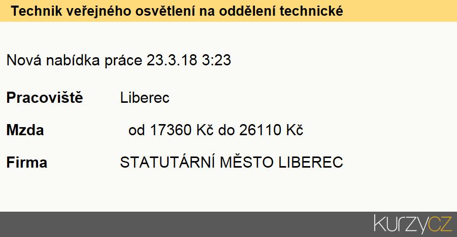 Technik veřejného osvětlení na oddělení technické správy odboru správy veřejného majetku magistrátu města liberec, Odborní pracovníci hospodářské správy