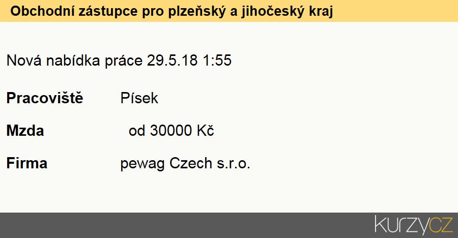 Obchodní zástupce pro plzeňský a jihočeský kraj, Obchodní zástupci