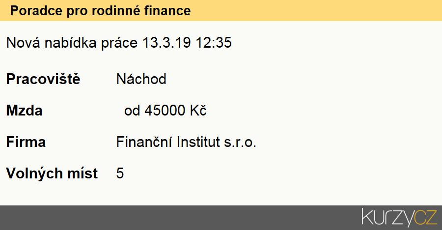 Poradce pro rodinné finance, Finanční poradci specialisté