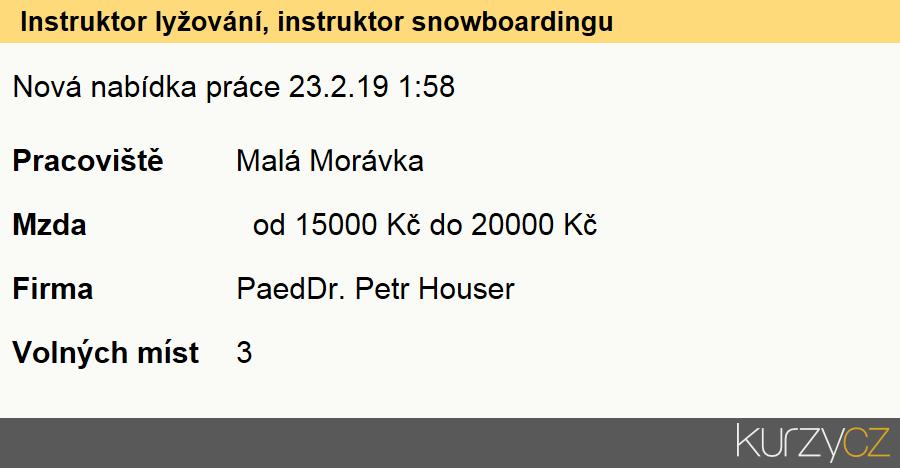 Instruktor lyžování, instruktor snowboardingu, Instruktoři a programoví vedoucí v rekreačních zařízeních a fitcentrech