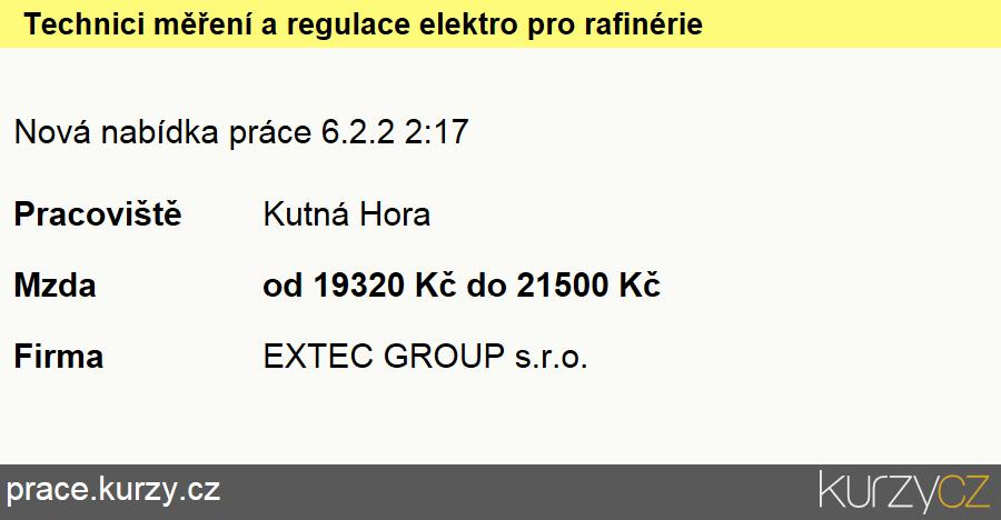Technici měření a regulace elektro pro rafinérie, Montážní dělníci elektronických zařízení