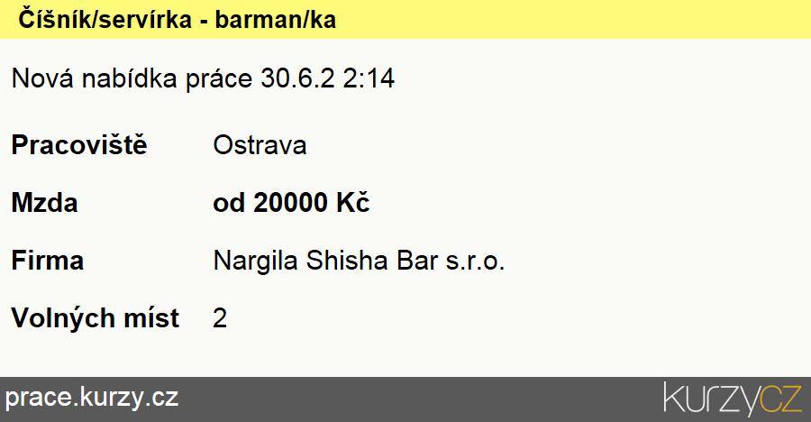 Číšník/servírka - barman/ka, Ostatní pracovníci příbuzní barmanům