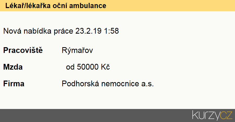 Lékař/lékařka oční ambulance, Ostatní lékaři specialisté